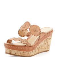 Leigh Cork Wedge Slide, Cognac - Jack Rogers