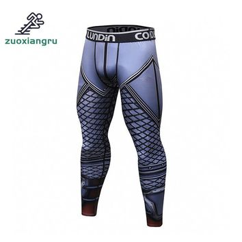Zuoxiangru Running Tights Men Compression Sports Leggings Fitness Men Running Tights Gym Clothing Basketball Training Sportswear