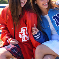 Vintage Varsity Letterman's Jacket- Red