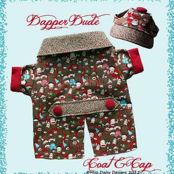 Dog Clothes Pattern To Sew Boys Coat & Cap by MissDaisyDesignsShop