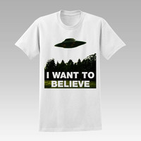 I Want To Believe  t-shirt unisex adults