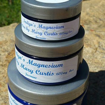 Jasmine Scent, Pain Lotion, Magnesium Body Lotion, Body Butter, Magnesium Oil, 600mg Magnesium per Teaspoon