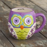Purple  Owl  Mug  From  Natural  Life
