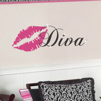 Girl Teen Wall Decal Decor LARGE Saying by AllOnTheWall on Etsy