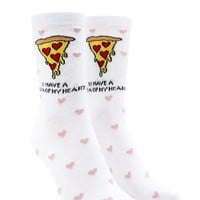 Pizza Graphic Crew Socks