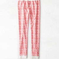 AEO Women's Fair Isle Knit Legging (Neon Runner Pink)