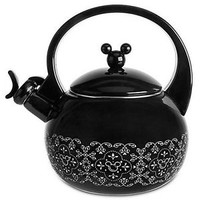 Disney GOURMET MICKEY MOUSE Tea Kettle - METAL Tea Pot WHISTLE STOPPER Teapot