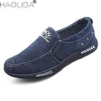New 2018 Canvas Men Shoes Comfortable Denim Men Casual Shoes Plimsolls Breathable Male Footwear Spring Autumn Man Flats Summer