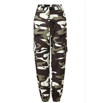 Women's Camouflage Cargo Trousers Casual Pants