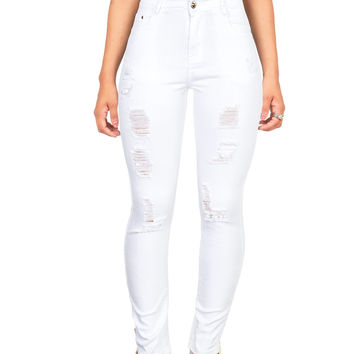 Tear Down High Waist Skinny Jeans