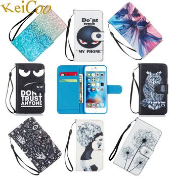 Brand Book Flip Covers Cases For Apple iPhone 6 S iPhone6S 4.7 TPU Shell PU Leather Wallet Cases Print Shcokproof Full Housing
