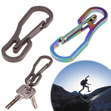 DCCK7N3 Multifunction Tool Titanium High Loading-bearing Hook EDC Tool 25KN Carabiner Keychain Outdoor Camping Hiking Tool