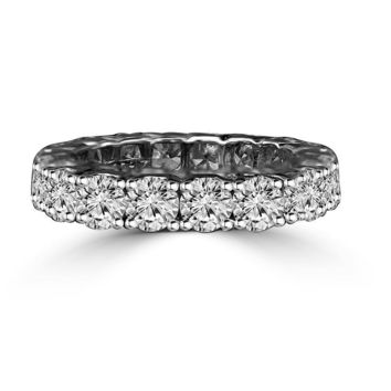 4.5 CT. (3.75 mm) Intensely Radiant Round Diamond Veneer All Around Eternity Band Engagement/Wedding Ring. 635R103