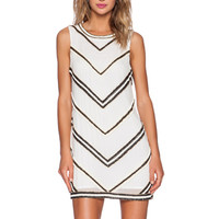 Claire Beaded Dress in White