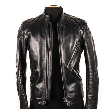 Burberry Padded Leather Moto Jacket