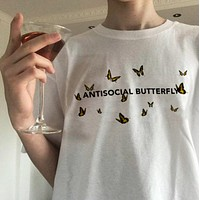 """""""Antisocial Butterfly"""" Tee"""