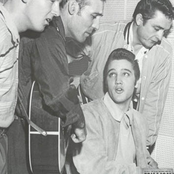 Million Dollar Quartet Elvis Johnny Cash Poster 24x36