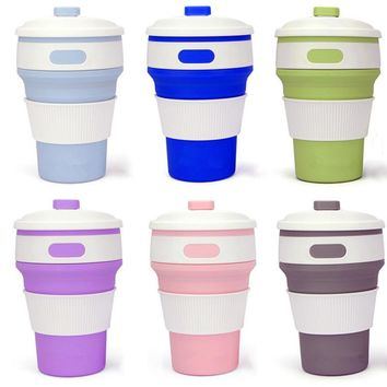 Portable Retractable Collapsible Silicone Coffee Cup