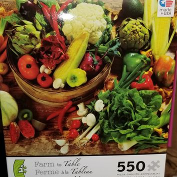 550 pc Farm to Table Puzzle