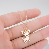 Cute Chihuahua Pendant Necklace