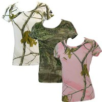 Realtree Girl Women's Marlow Camo Scoop Neck Tee