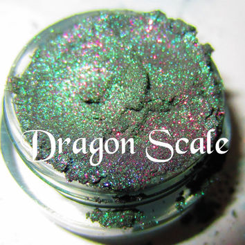 BESTSELLER Dragon Scale Emerald Green Purple Glitter Natural Mineral Eyeshadow Mica Pigment 5 Grams Lumikki Cosmetics