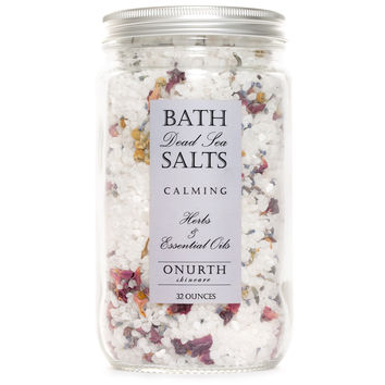 Calming Herbal Bath Dead Sea Salts Soak with Lavender