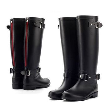CREYONV pvc women rain boots girls ladies rubber shoes for casual walking hunting hunter outdo  number 1