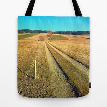 Hiking trail, blue sky and moon | landscape photography Tote Bag by Patrick Jobst