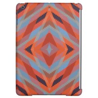 Red Orange Blue Geometric Knitted Look Cover For iPad Air