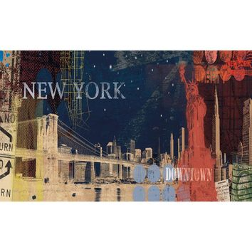 New York Streets Giant Prepasted Wallpaper Accent Mural