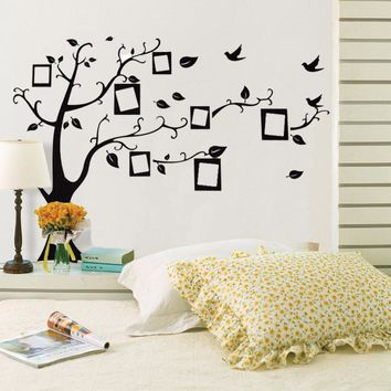 Hot sale wall stickers home decor Family Picture Photo Frame Tree Wall Quote Art Stickers PVC Decals Home Decor wallpaper House