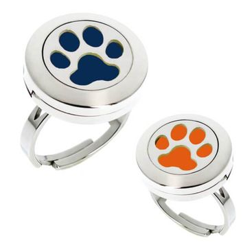 Paw Print Essential Oil Diffuser Ring (perfect for Auburn Tigers fans)