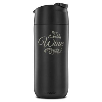 12 Ounce Flip and Sip Insulated Engraved Mug, Probably Wine