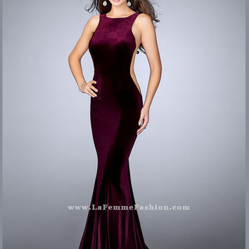 La Femme 24605 High Neck Prom Dress
