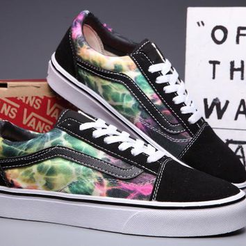VANS Old Skool Canvas Galaxy Print Flats Sneakers Sport Shoes
