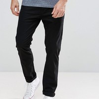 Stradivarius Slim Chinos In Black at asos.com