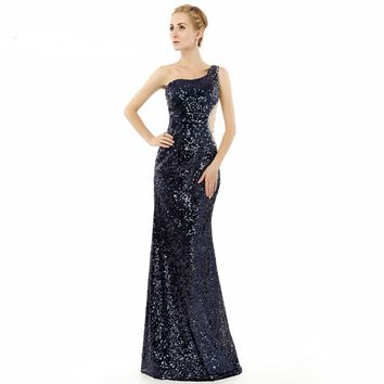 Sexy Sequin Long Elegant Mermaid Prom Dresses Prom Dress For Party