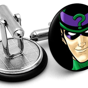 Riddler Portrait Cufflinks