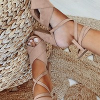 Panama Heels - Stone - Shoes by Sabo Skirt