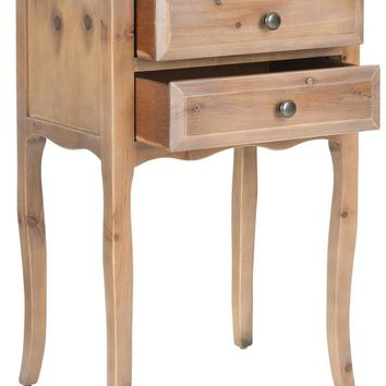 Lori End Table With Storage Drawers Red Maple