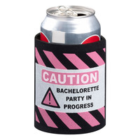 Pink and Black Bachelorette Party Cup Cozy