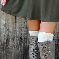 The Lucca Ribbed Thigh High Socks