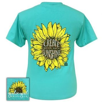 Girlie Girl Originals Preppy Create Your Own Sunshine Scuba Blue T-Shirt