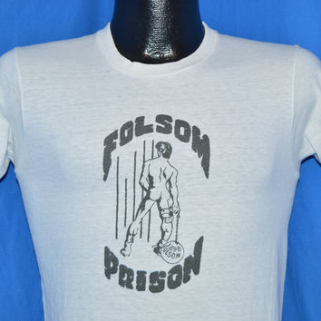 70s Folsom Prison Leather Gay Bar San Francisco t-shirt Small