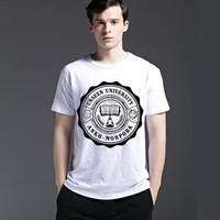 Casual Cotton Summer Fashion Tee Short Sleeve Strong Character Creative Men's Fashion Stylish T-shirts = 6451450307