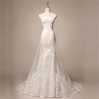 JAEDEN Sweetheart Wedding Dresses Lace Tulle Cover Satin Appliques Beads Off the Shoulder W104 Mermaid Wedding Bridal Gown
