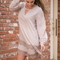 Sands Of Time Dress, Taupe