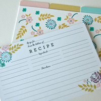 NEW Spring Bouquet Recipe Cards - Set of 10