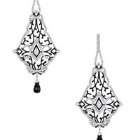 Lace Diamond & Onyx Geometric Drop Earrings by Ivanka Trump at Gilt